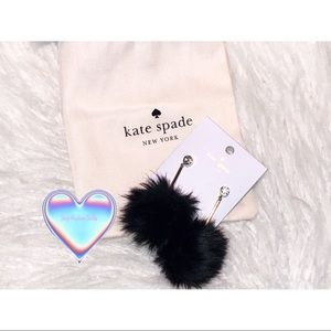 Authentic Kate Spade flying colors ♠️ Pom earrings